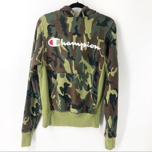 Champion Reverse Weave Camo Hoodie Size Small